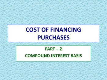 Cost of Financing Purchases - 2