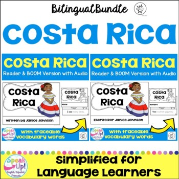 Costa Reader & vocab pages in English & Spanish {Bilingual Bundle}