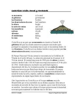 Costa Rica: Biodiversidad y Ecoturismo Lectura: Spanish Reading