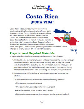Costa Rica Cultural Activity for Spanish Students!