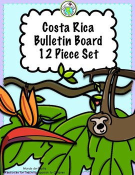 Costa Rica Rainforest Bulletin Board Set of 12 Spanish Multicultural World