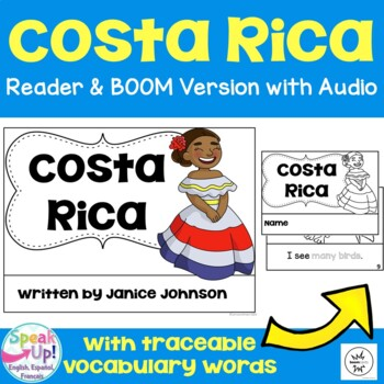 Costa Rica Reader {English version} & Vocab pages ~ Simplified for Young Readers