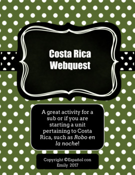 Costa Rica Webquest