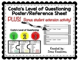 Costa's Level of Questioning Poster Set with Student Activities!