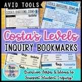 Costa's Levels: Question Stems & Verbs Bookmarks
