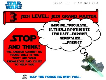 Costa's Levels of Questioning AVID Mini Posters Star Wars Theme