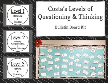 Costa's Levels of Questioning & Thinking Bulletin Board Kit