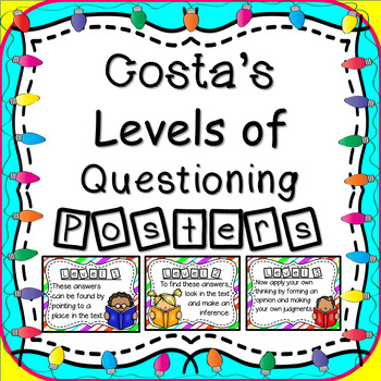 Costa's Levels of Thinking Posters