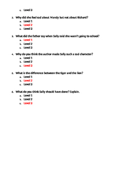 Costa's Levels of questioning quiz