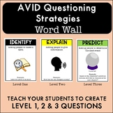 Costa's Levels of Questioning Word Wall for Avid