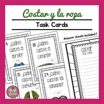 Costar y La Ropa Task Card