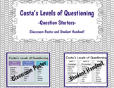 Costa's Levels of Questioning-Classroom Poster and Student