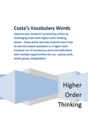 Costa's Vocabulary Cards for Higher Order Thinking