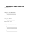 Costs of Education Worksheet