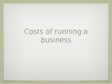Costs of Running a Business