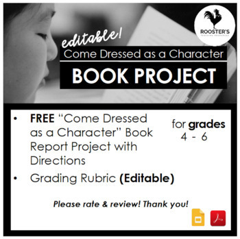 Costume Book Report Project {Digital & PDF}