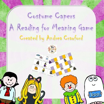 Reading for Meaning Activity ~ Costume Capers