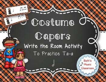 Costume Capers! Halloween Scavenger Hunt: Write the Room Rhythms, Ta-a
