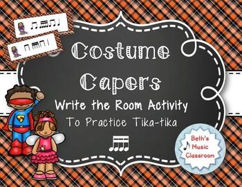 Costume Capers! Halloween Scavenger Hunt: Write the Room Rhythms, Tika-tika