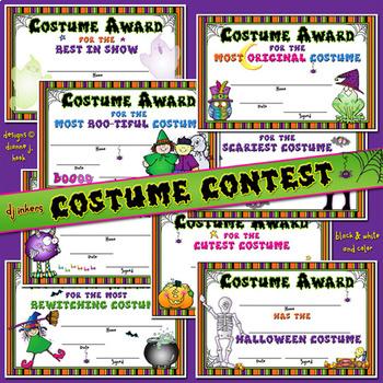 Costume Contest Certificates Download