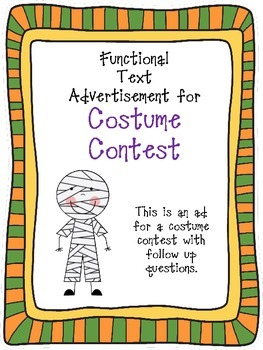 Costume Contest Functional Text