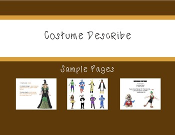 ASL Costume Describing Activity