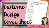Costume Design Unit Cover Sheet