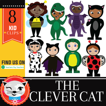 Costume Kids! 8 Piece Clip Set (by The Clever Cat)