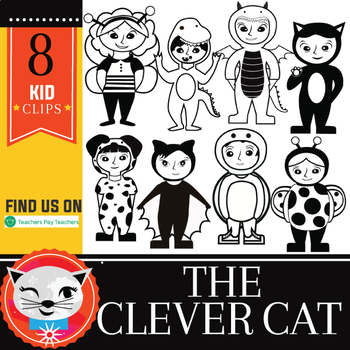 Costume Kids! 16 Piece Clip Set (by The Clever Cat)