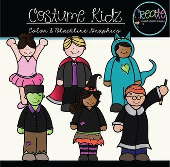 Costume Kidz - Digital Clipart