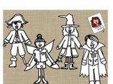 Costume Parade B&W Bundle by Marilou's Doodles