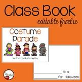 Costume Parade Editable Classroom Book FREEBIE