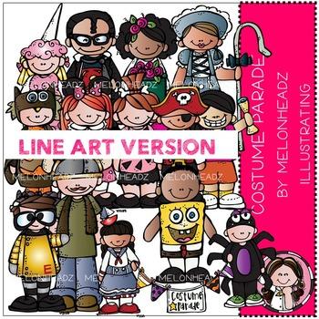 Melonheadz: Costume Parade clip art - LINE ART