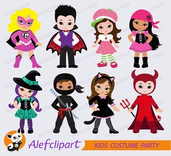 Costume Party Digital clipart / Kids Costume clip art /