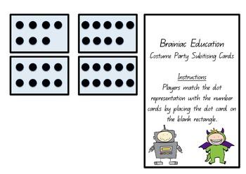 Costume Party Subitising Cards