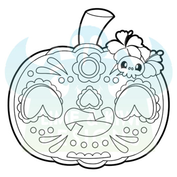 Costume Pumpkins Digital Stamps, Instant Download Vector Art, Commercial Use