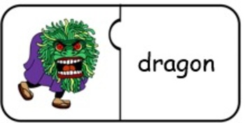 Costumes/Vocabulary Jigsaw Puzzles/Halloween: Characters & Connecting Words