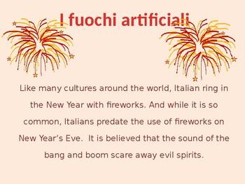 Costumi e usanze degli italiani Capodanno  New Year's in Italian Buon Anno