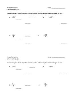 Coterminal Angle Quiz