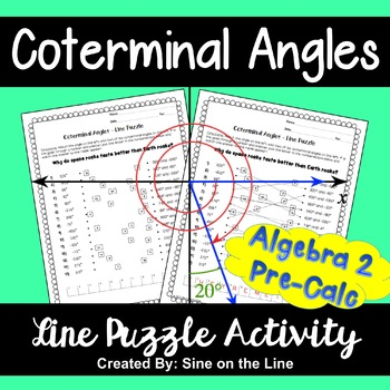 Coterminal Angles Line Puzzle Activity By Sine On The Line Tpt
