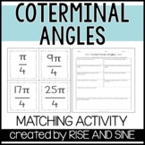 Coterminal Angles Matching Activity