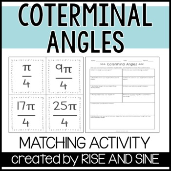Coterminal Angles Matching Activity
