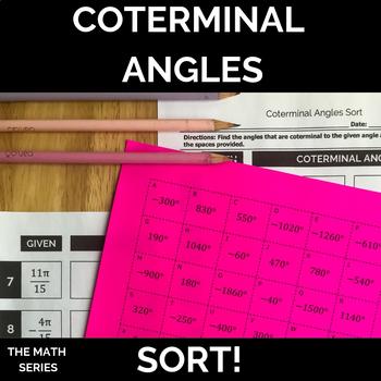 Coterminal Angles Sort