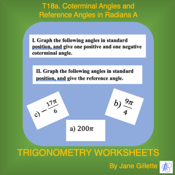 Coterminal Angles and Reference Angles in Radians A