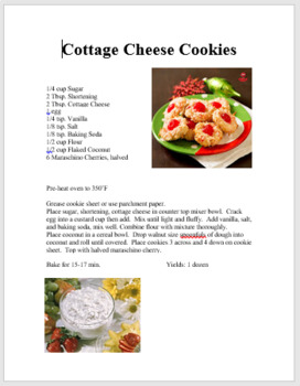 Cottage Cheese Cookie Lab
