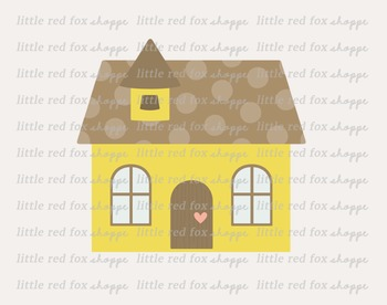 Cottage Clipart; House, Building, Cabin