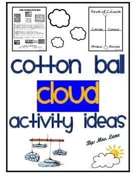 Cotton Ball Cloud Activity Ideas