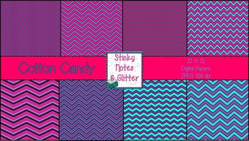 Cotton Candy (8 Chevron Style Digital Papers for Personal/Commercial Use)
