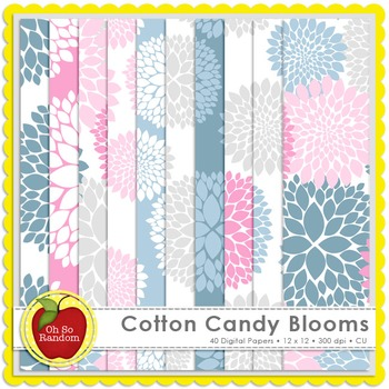 Cotton Candy Blooms {CU Digital Papers}
