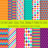Cotton Candy Colors Digital Paper and Backgrounds